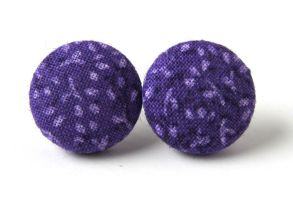 Purple button earrings by KooKooCraft
