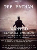 Batman Wanted Poster by Cadmus130