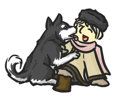 APH- Russia and a Puppy by tawamureru