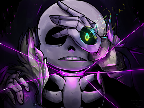 Sans and Gaster by RandomColorNice