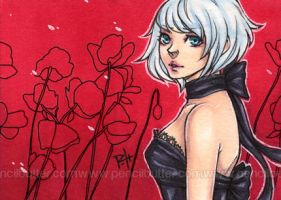 aceo - poppies by demon-rae