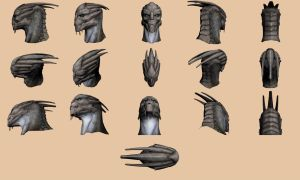 Turian Head - Model Reference by Troodon80