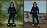 Adult Tarzan in his father's suit (2-in-1 picture) by PoKeMoN-Traceur