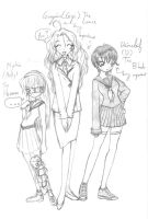Molly, Gigi, and D by MoCaW