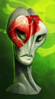 Salarian portrait 1 by Skelletang