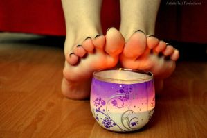 Bright Candle Toes by Foxy-Feet