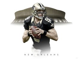 Drew Brees Superdome by timdallinger
