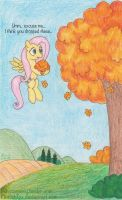 Chasing Leaves: Fluttershy by FinnishFox