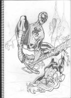 Spiderman and blackcat by FATRATKING