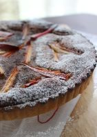 Rhubarb and Nutella Tart by cakecrumbs