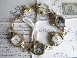 Steampunk vintage bracelet by Hiddendemon-666