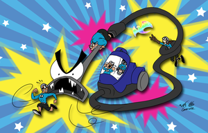 The Aquabats! in ''Attack of the Bissell!'' by FractiousLemon