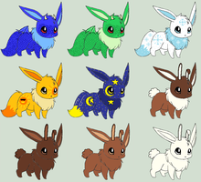 Eevee Adopts 2 [Open 4/9 Taken] by ReinFalling