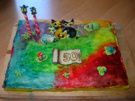 Rosina Wachtmeister-style cake by geekySquirrel