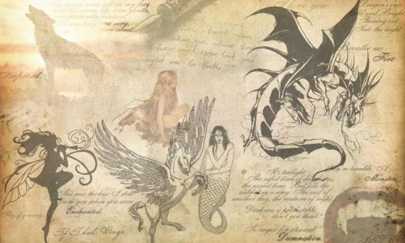 Mythical Creatures Background by Cello-is-love