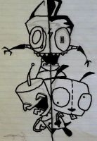 Invader zim by wolfmeg