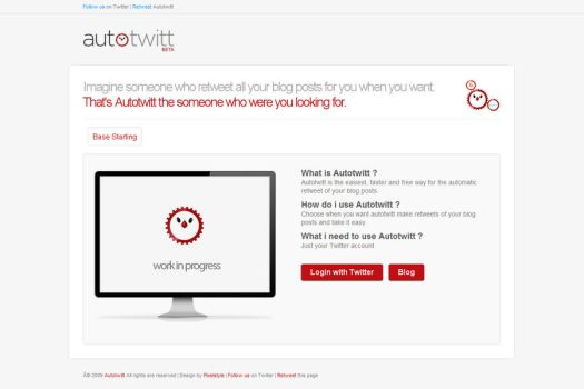 Autotwitt Homepage by FalconXp