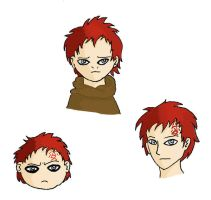 Three Gaara sketches by Avistew