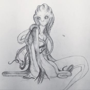 Drawlloween Day 4 - Tentacle Tuesday by Tvonn9