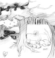 Crappy forest sketch by neuroticism94