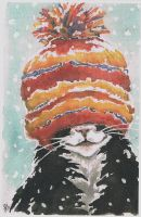 cat in a hat by viveie