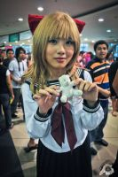 Cosplayer with Teddy White 4 by dhouy27