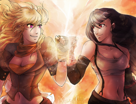 Death Battle: Yang vs. Tifa by KrisseyMage