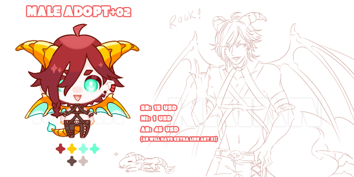 (AUCTION|CLOSE) MALE ADOPT 02 by krianart