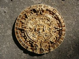 Aztec Calendar I unprocessed by dull-stock