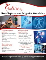 INFOGRAPHIC - Knee Replacement Surgeries worldwide by PlacidWayUSA
