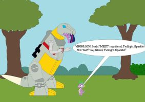My Little Grimlock, Friendship Is Delicious by Kphoria