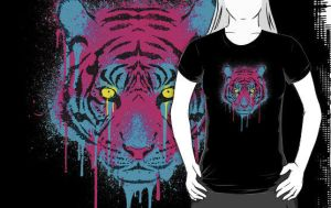 CMYK tiger t-shirt by R-evolution-GFX
