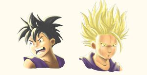Quick Study of Gohan by ktimz