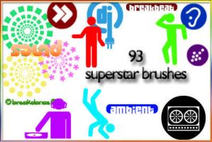 Superstar DJ brushes by AnastasieLys