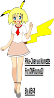 Pika-Chan as Numette by MarioBlade64