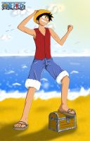 Monkey D. Luffy Color by vicse