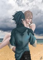 Light and Noctis -Summer Fun by Terra7