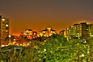 Ujpest at night by 0rs