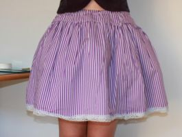 Purple stripe lolita skirt by sharvani