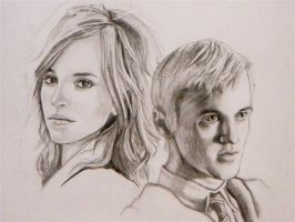 Hermione and Draco by ChristyTortland