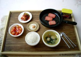 precious Asian foods with kimchi delicious Meal by dollhouseara