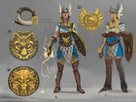 Dragons of Elanthia: Valkyrie Concepts by sketcheth