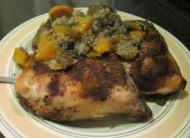 Chicken w. Persimmon, Butternut, Plantains, Rice 7 by Windthin