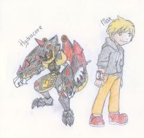Medabots Hydracore and Max by CrissyG