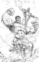 Hulk, Spidey, Iron Man by JasonMetcalf