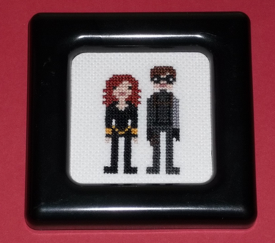 Winter Soldier and Black Widow Cross Stitch by chujo-hime