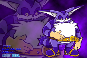 Big the Cat Wallpaper by LeatherRuffian