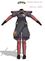 MMD- Samurai Assassin Set -DL by MMDFakewings18