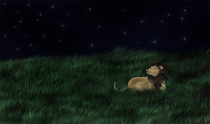 .:Lion in the meadow:. by AnDarkPrincess