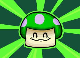 Green Mushroom by DonKrow